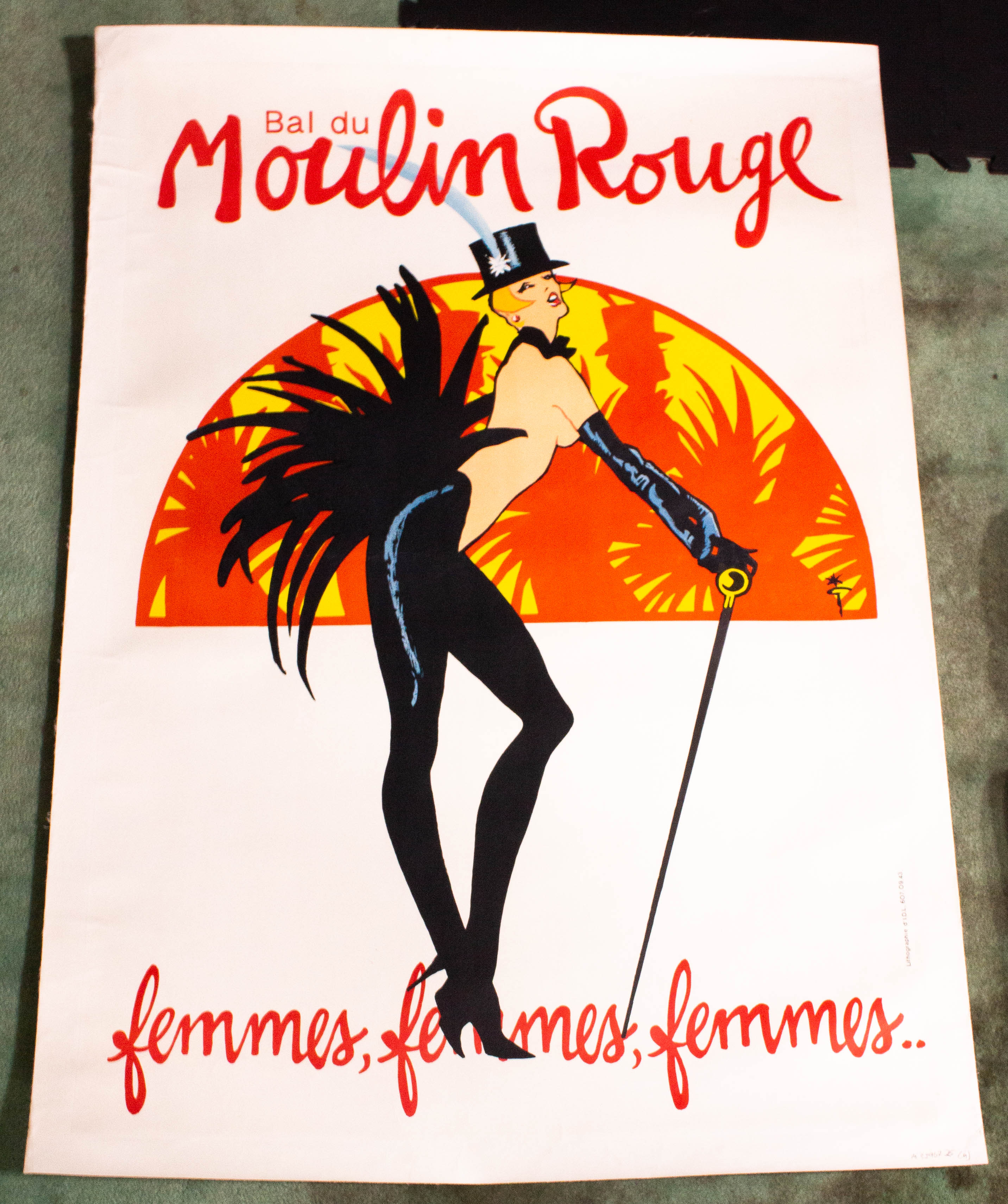 "Image for Bal Du Moulin Rouge Femmes Femmes Femmes French Theatre & Opera Poster. 34 X 48"" Lithographaa"