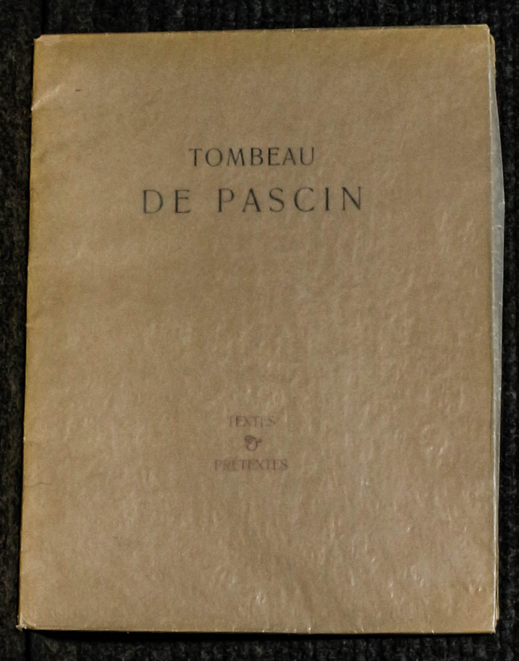 Image for Tombeau De Pascin