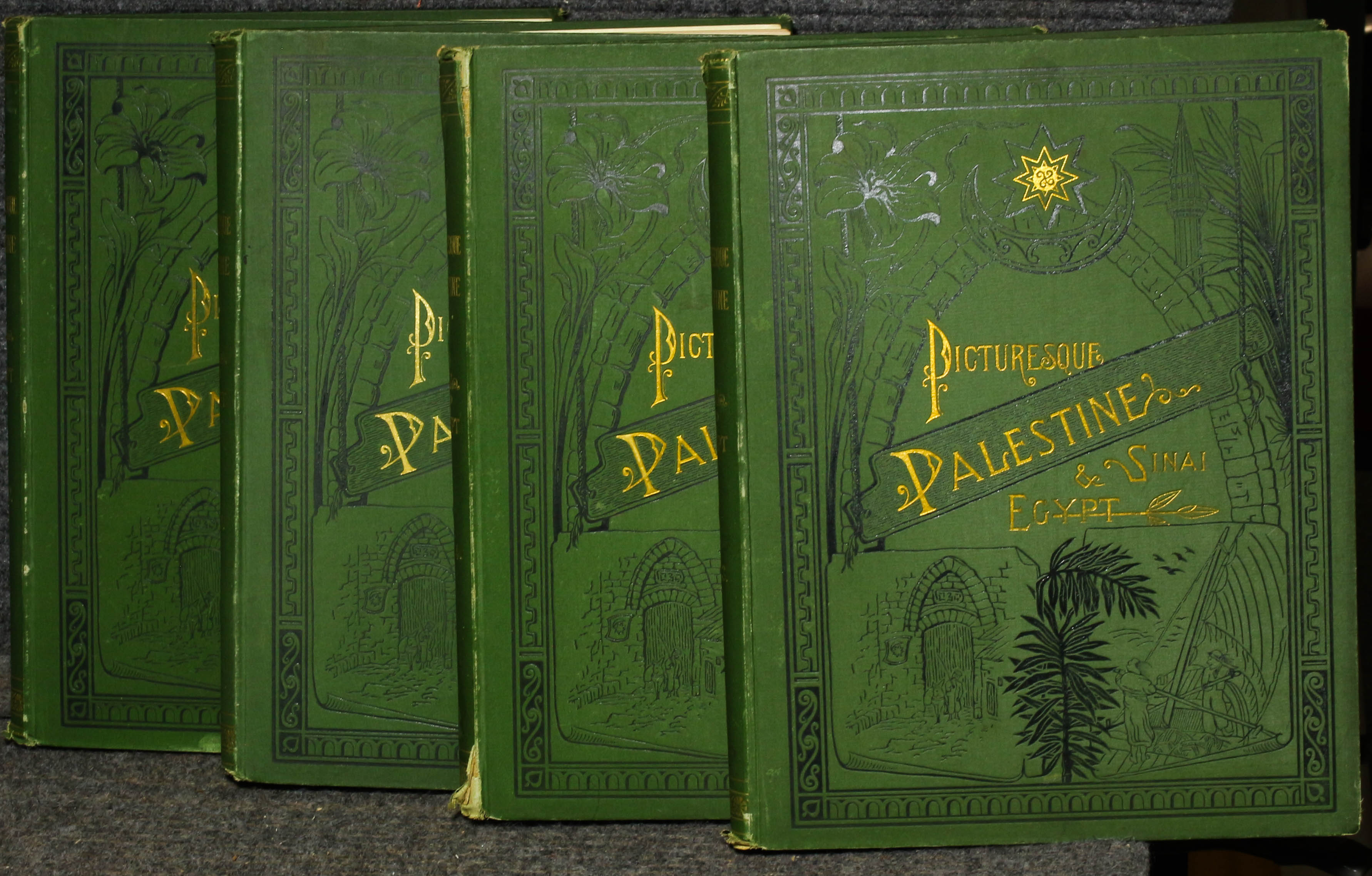 Image for Picturesque Palestine, Sinai & Egypt Ct 4 Vols Illustrated 1881 4to