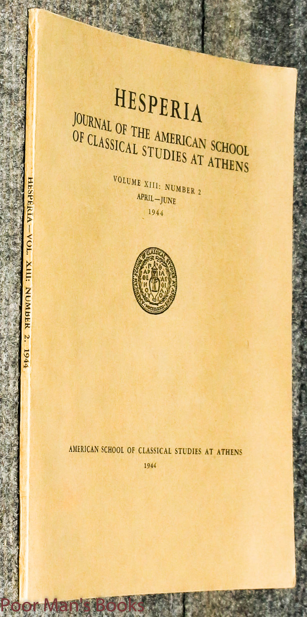 Image for Hesperia, The Journal Of The American School Of Classical Studies At Athens