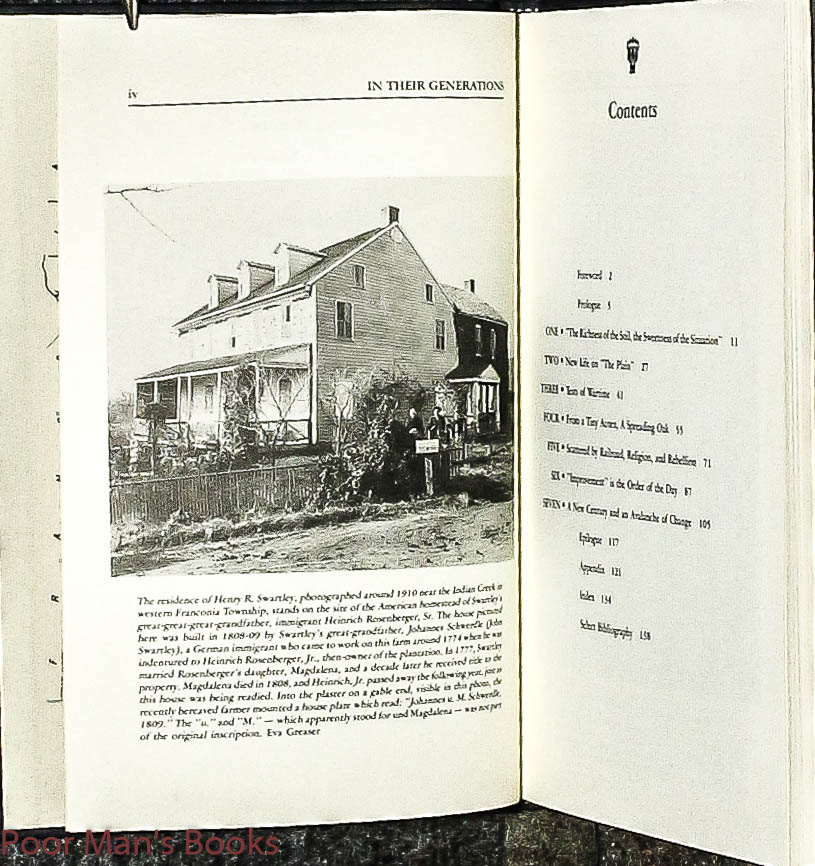 Image for In Their Generations: A History Of The Rosenberger Family In The Vicinity Of Hatfield Township, Pennsylvania