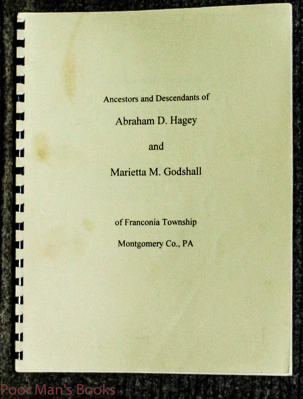 Image for Ancestors And Descendants Of Abraham D And Marietta M Hagey