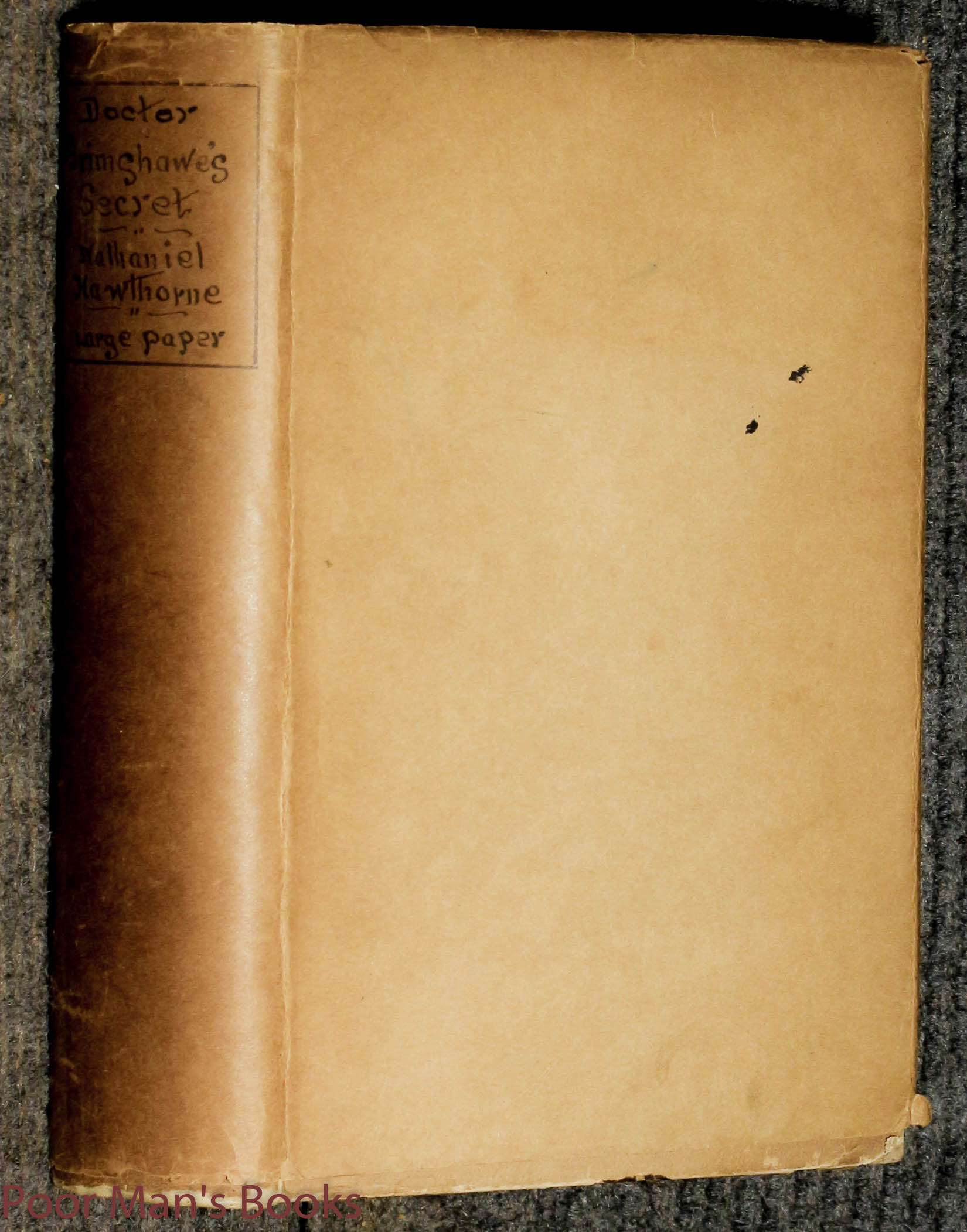 Image for Doctor Grimshaw's Secret Large Paper Edition Of 250