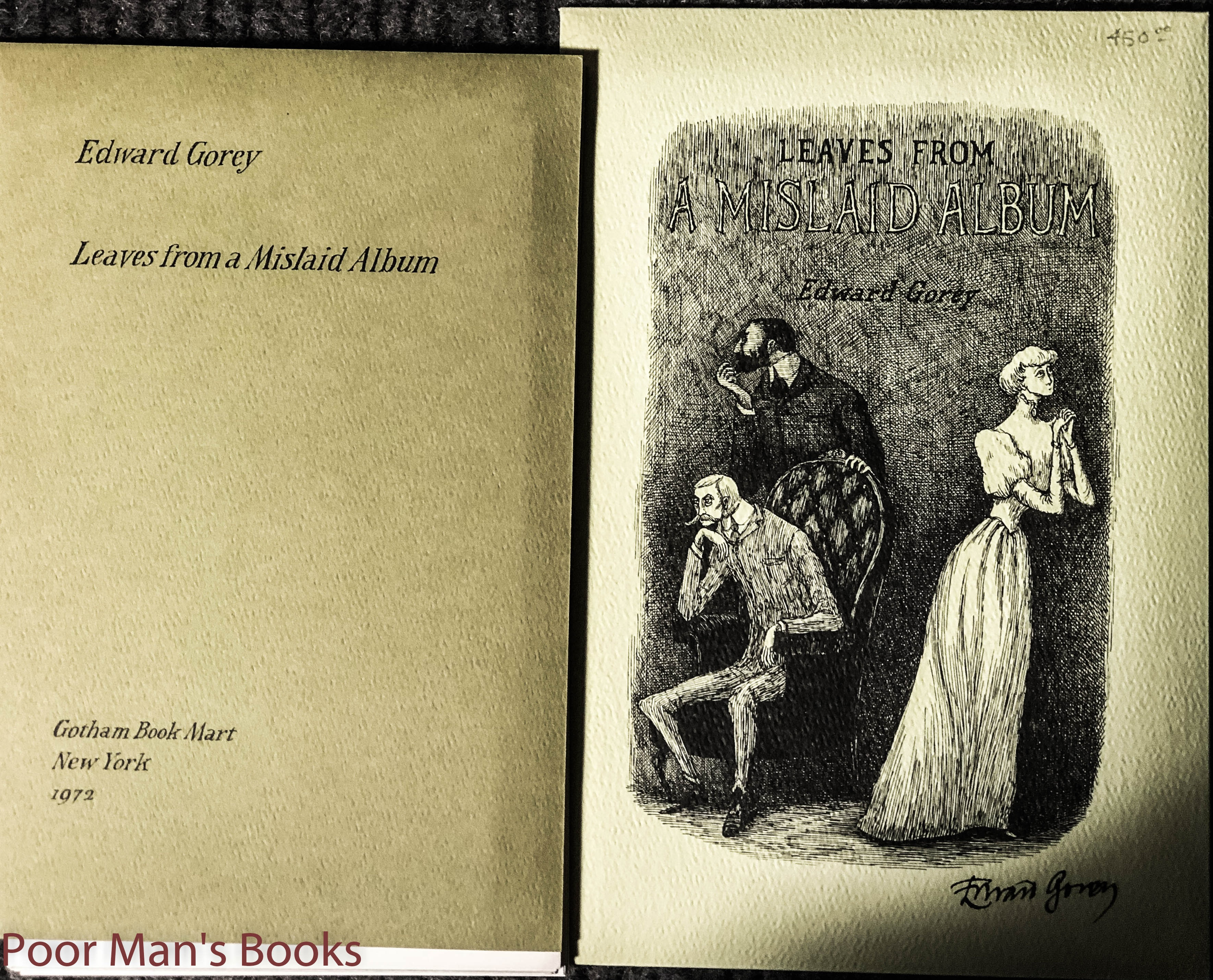 Image for Leaves From A Mislaid Album signed by Gorey, copy number 500 of 500