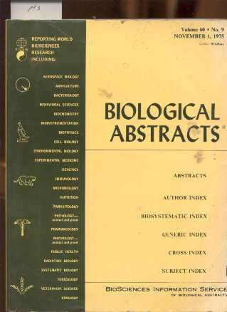 Image for BIOLOGICAL ABSTRACTS