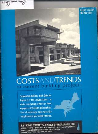 Image for COSTS AND TRENDS OF CURRENT BUILDING PROJECTS 1967