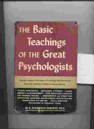 Image for THE BASIC TEACHINGS OF THE GREAT PSYCHOLOGISTS