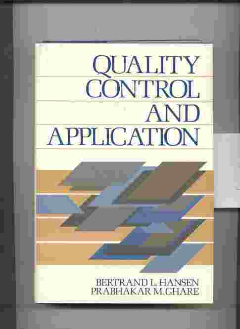 Image for QUALITY CONTROL: THEORY AND APPLICATIONS