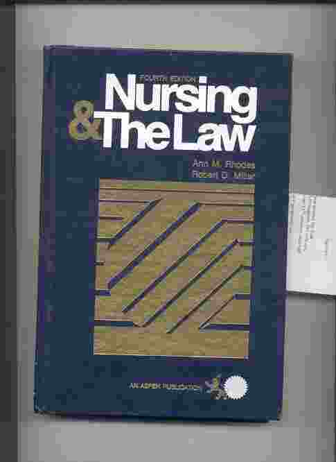 Image for NURSING AND THE LAW