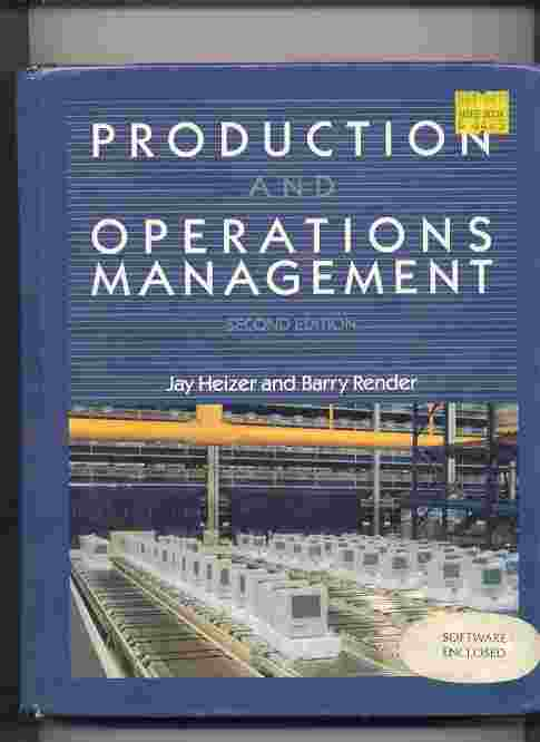 Image for PRODUCTION AND OPERATIONS MANAGEMENT