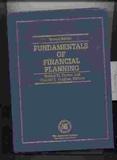 Image for FUNDAMENTALS OF FINANCIAL PLANNING