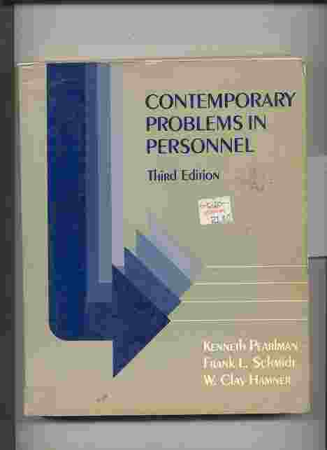 Image for CONTEMPORARY PROBLEMS IN PERSONNEL