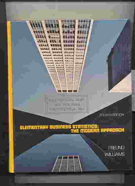 Image for ELEMENTARY BUSINESS STATISTICS: THE MODERN APPROACH