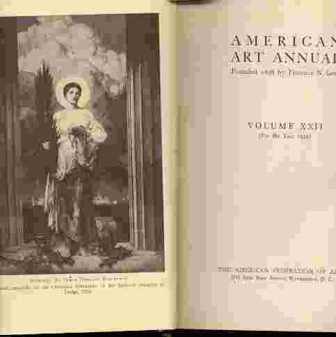 Image for AMERICAN ART ANNUAL, VOL. 22 (1925) .