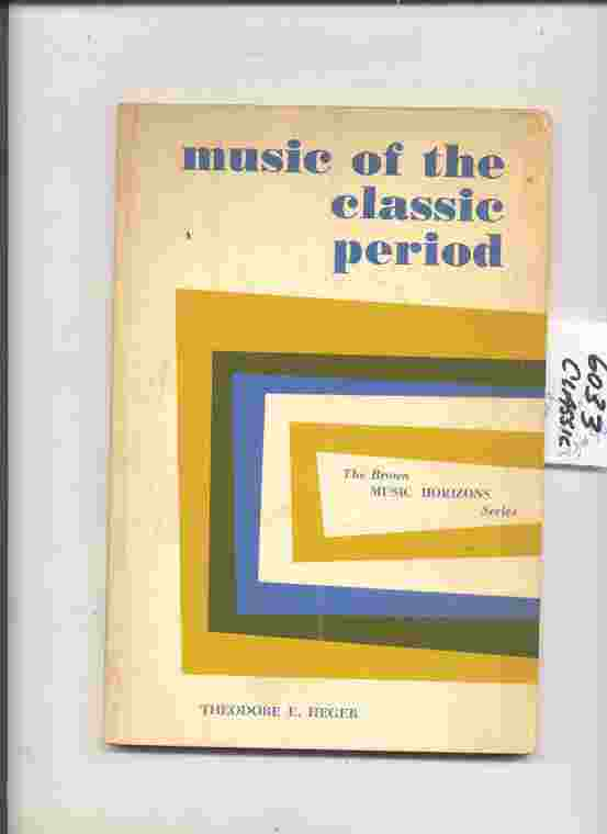 Image for MUSIC OF THE CLASSIC PERIOD