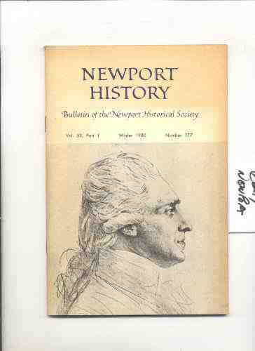 Image for NEWPORT HISTORY Bulletin of the Newport Historical Society