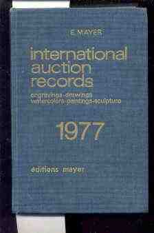 Image for INTERNATIONAL AUCTION RECORDS: ENGRAVINGS, DRAWINGS, WATERCOLORS, PAINTINGS, SCULPTURE, 1977.