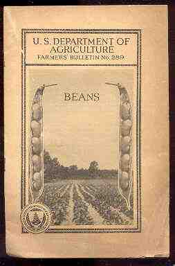 Image for U. S. DEPARTMENT OF AGRICULTURE FARMER'S BULLETIN , NO. 289 BEANS