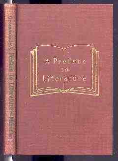Image for A PREFACE TO LITERATURE