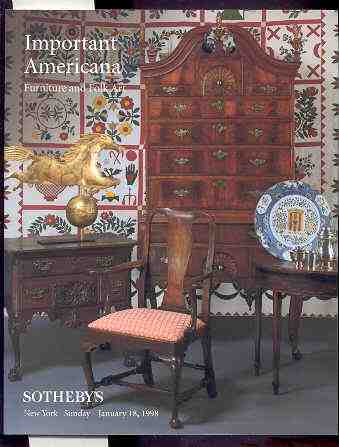 Image for IMPORTANT AMERICANA FURNITURE AND FOLK ART Sale No 7085 January 18 1998