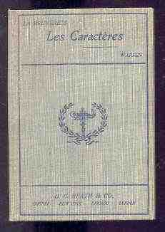 Image for SELECTIONS FROM LES CARACTERES OF LA BRUYERE