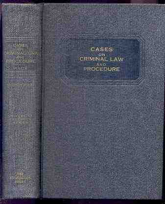 Image for CASES ON CRIMINAL LAW AND PROCEDURE Second Edition