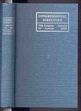 Image for OFFICIAL CONGRESSIONAL DIRECTORY; 70TH CONGRESS, 2ND SESSION, BEGINNING JANUARY 1929, SECOND EDITION