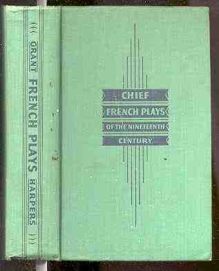 Image for CHIEF FRENCH PLAYS OF THE NINETEENTH CENTURY