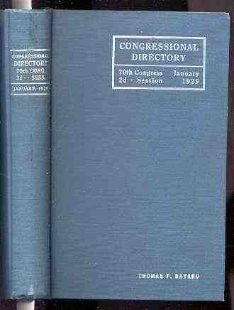 Image for OFFICIAL CONGRESSIONAL DIRECTORY. 71ST CONGRESS: 1ST SESSION BEGINNINGAPRIL 15, 1929
