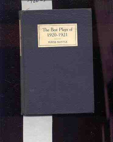 Image for BEST PLAYS OF 1920-21 & THE YEAR BOOK OF THE DRAMA IN AMERICA