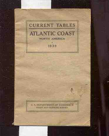 Image for TIDAL CURRENT TABLES ATLANTIC COAST OF NORTH AMERICA 1939
