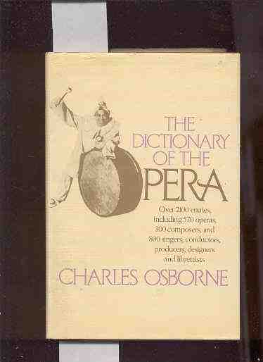 Image for DICTIONARY OF THE OPERA