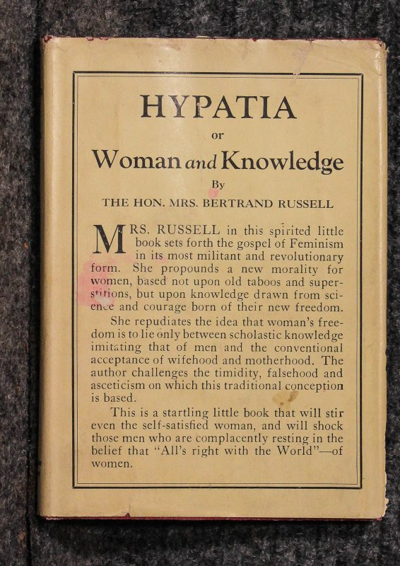 Image for HYPATIA OR WOMAN AND KNOWLEDGE