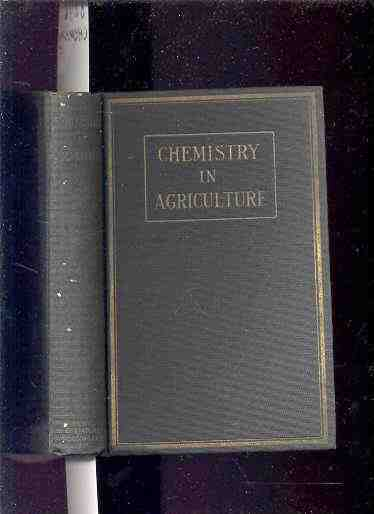 Image for CHEMISTRY IN AGRICULTURE  (1926)