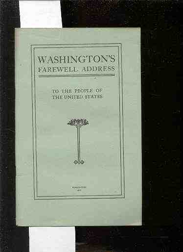 Image for WASHINGTON'S FAREWELL ADDRESS TO THE PEOPLE OF THE UNITED STATES