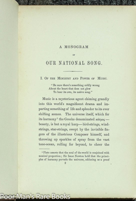 Image for Monogram On Our National Song 1869 Songs: ; Historical: : Hail Columbia