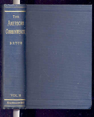 Image for THE AMERICAN COMMONWEALTH VOLUME II